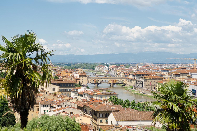 Флоренция, вид на город с обзорной площадки