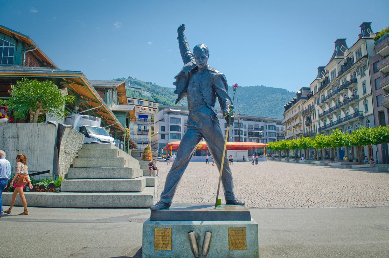 Памятник Фредди Меркьюри, Монтрё, Женевское озеро